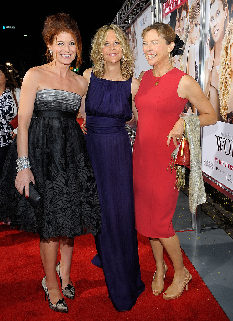 The Women LA Premiere 2008 Debra Messing Meg Ryan Annette Bening