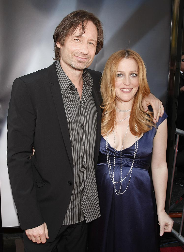 XFiles I Want to Believe Hollywood Premiere 2008 David Duchovny Gillian Anderson