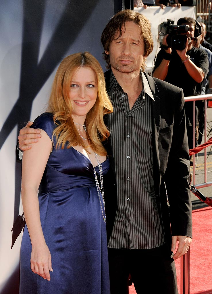 XFiles I Want to Believe Hollywood Premiere 2008 Gillian Anderson David Duchovny