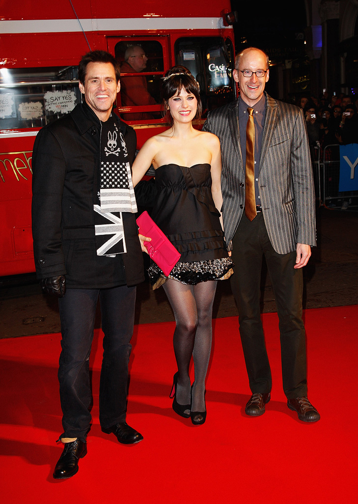 Yes Man UK premiere 2008 Jim Carrey Zooey Deschanel