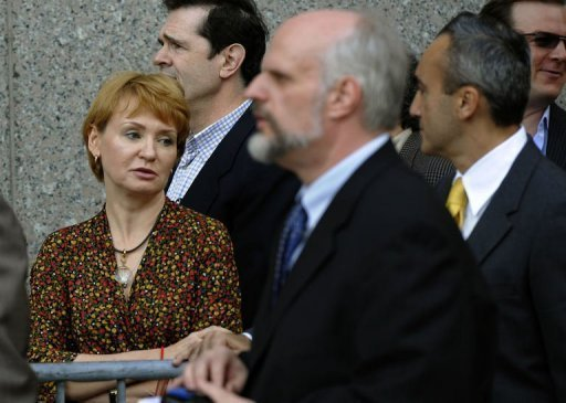 Alla Bout, the wife of Viktor Bout arrives at Manhattan Federal Court