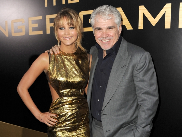 Jennifer Lawrence and director Gary Ross (photo by Getty Images)