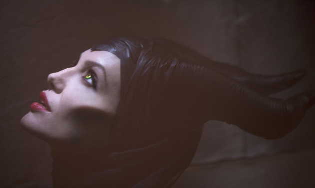 Angelina Jolie seen in a production photo for 'Maleficent' -- Walt Disney Studios