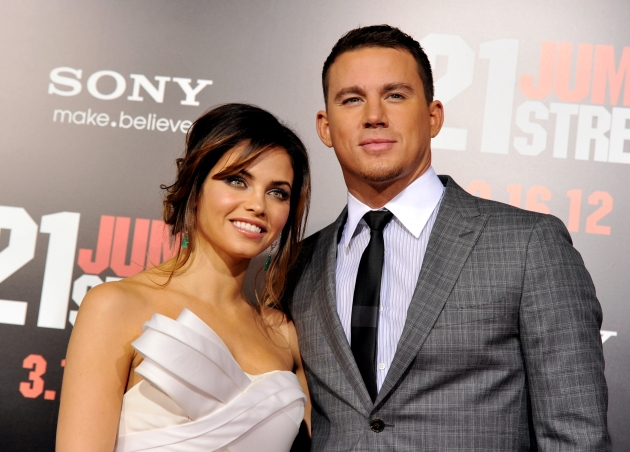Channing Tatum and his wife Jenna Dewan arrive at the premiere of &#39;21 Jump Street&#39; on March 13. 2012 in Los Angeles -- Getty Images