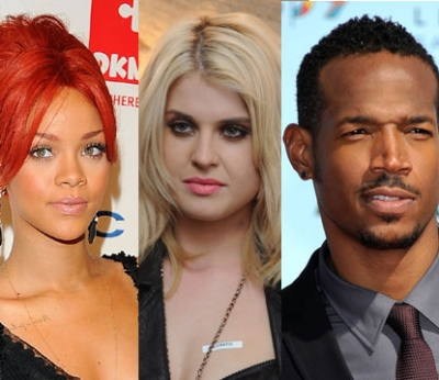 Rihanna, Kelly Osbourne, Marlon Wayans -- Getty Images