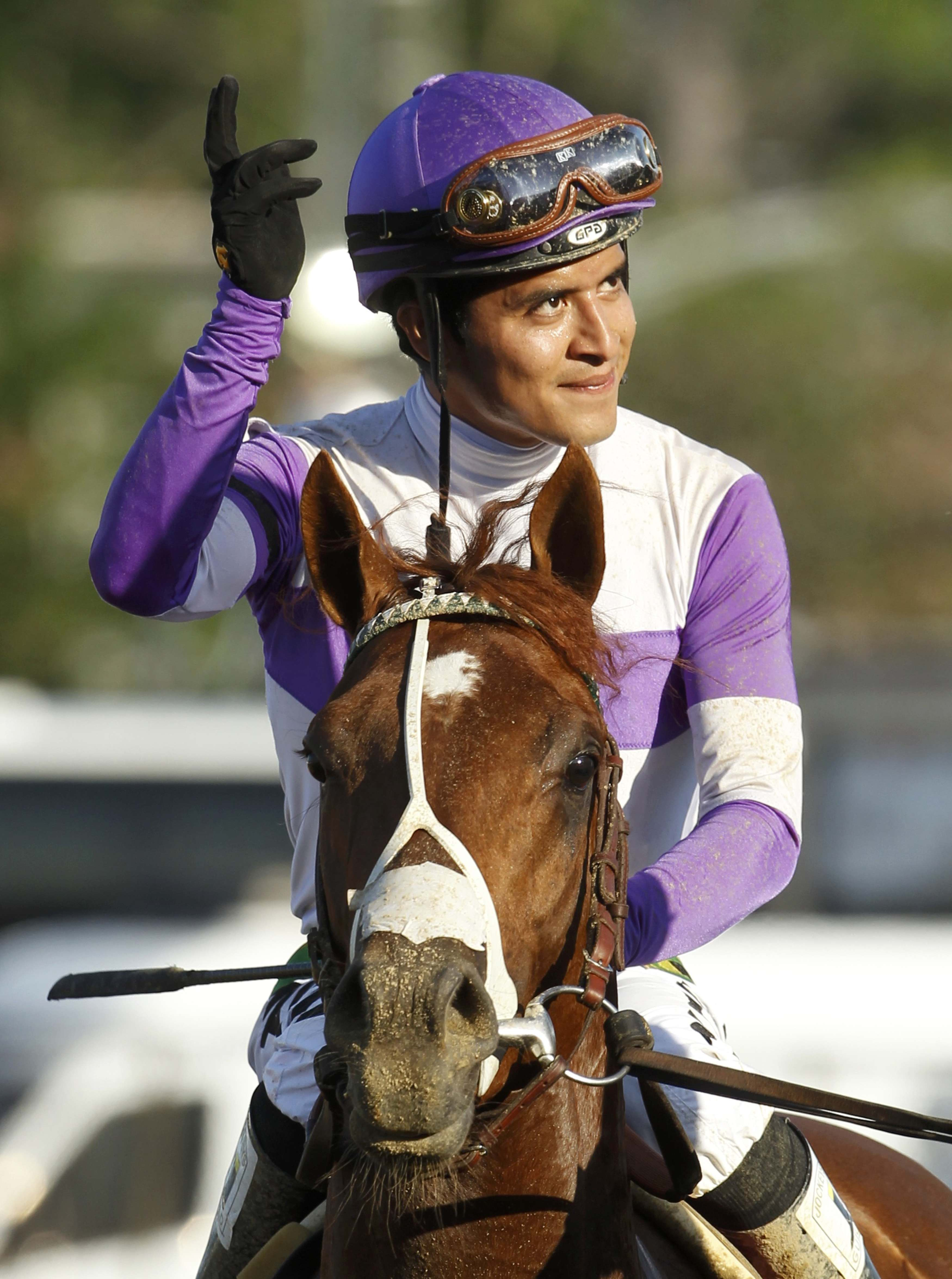 Mario Gutierrez guided I'll Have Another to victory in the Preakness. (Reuters)