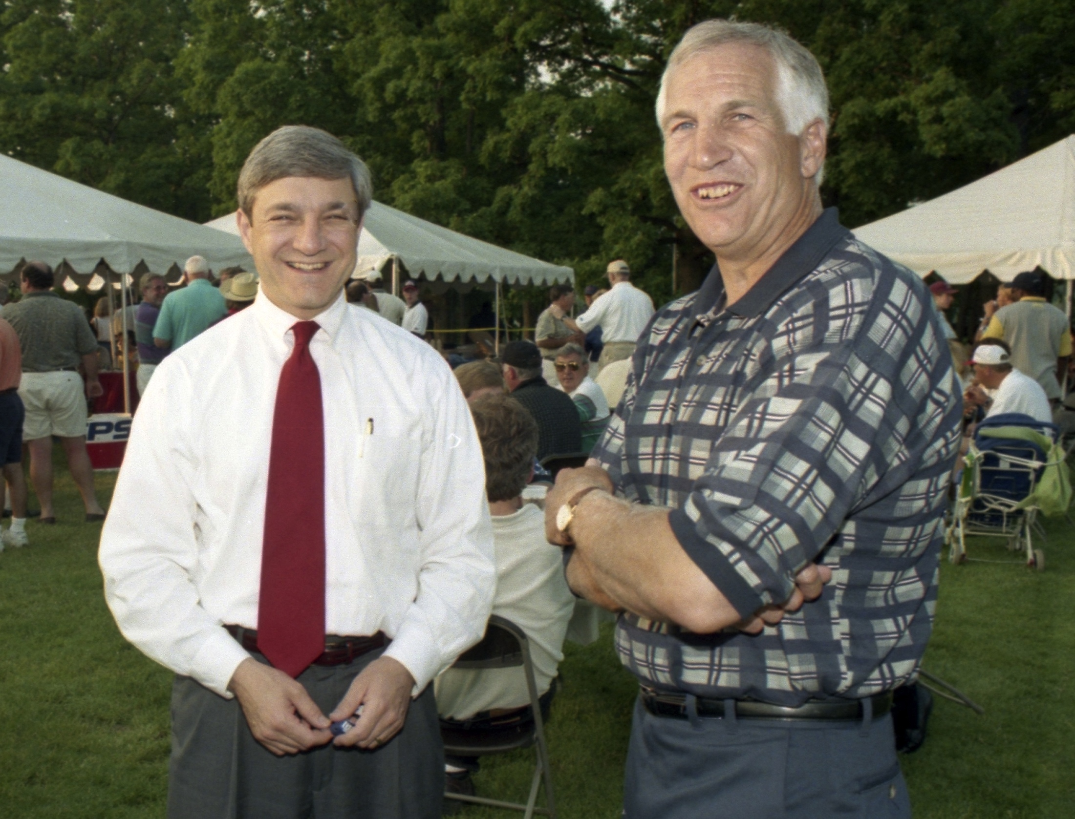 Graham Spanier, left, allegedly hid Jerry Sandusky's sex crimes while enforcing arcane rules. (Reuters)