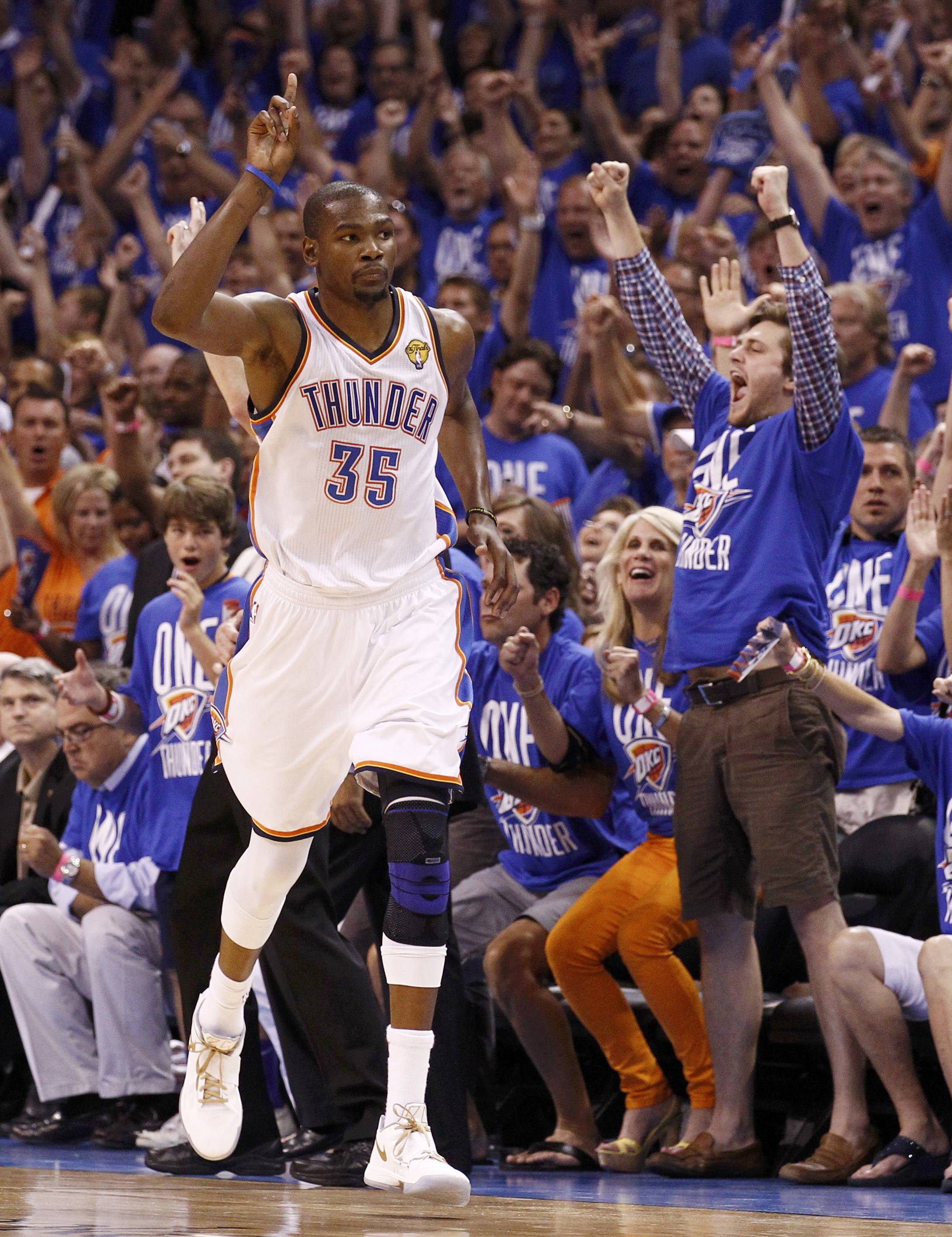 Kevin Durant's first NBA Finals game was a smashing success. (Reuters)