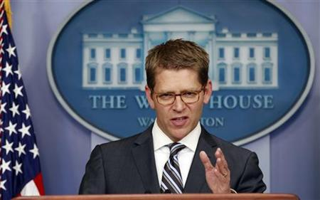 White House Press Secretary Jay Carney. REUTERS/Kevin Lamarque