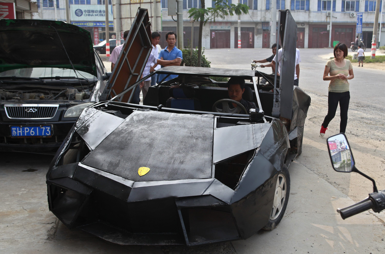 Exceptional Ph.news.yahoo.com/photos/chinese Farmer Builds Lamborghini  From Scrap Metal Slideshow/people Look Self Made Replica Lamborghini Reventon Suqian Photo   ...