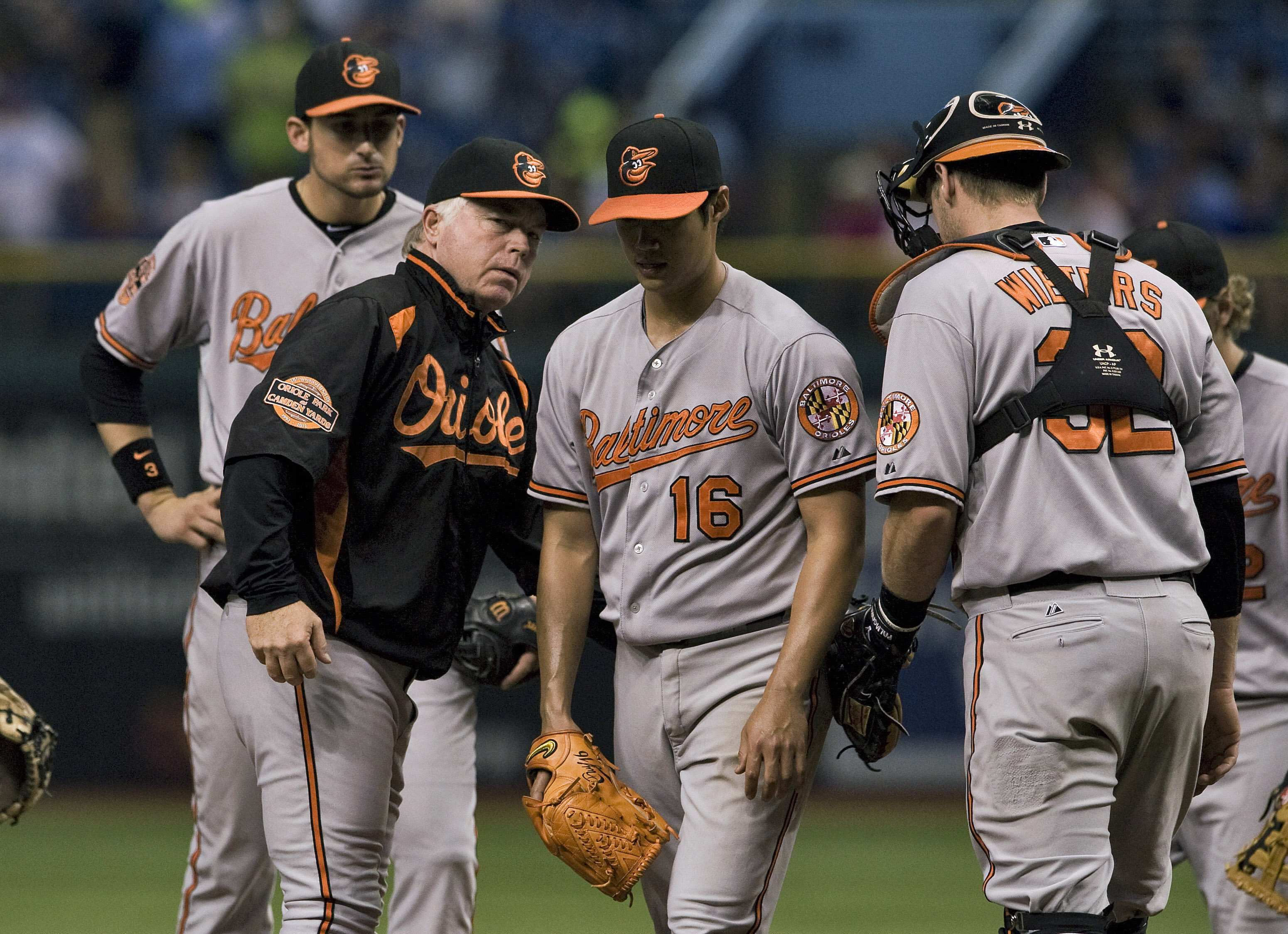 Buck Showalter's Orioles must beat Texas in a one-game playoff to advance in the postseason. (Reuters)