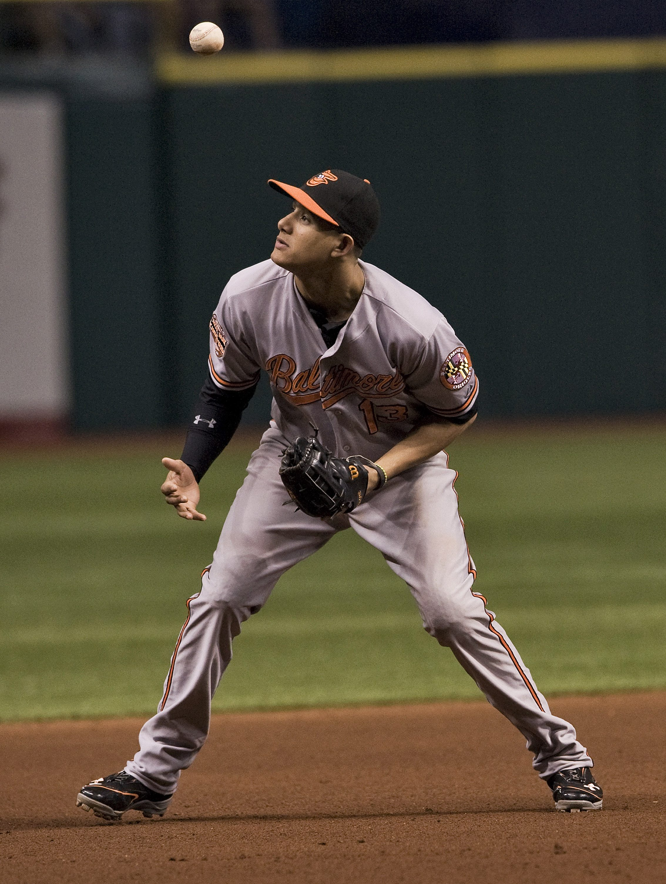 Orioles third baseman Manny Machado made a critical error Monday in a loss to the Rays. (Reuters)