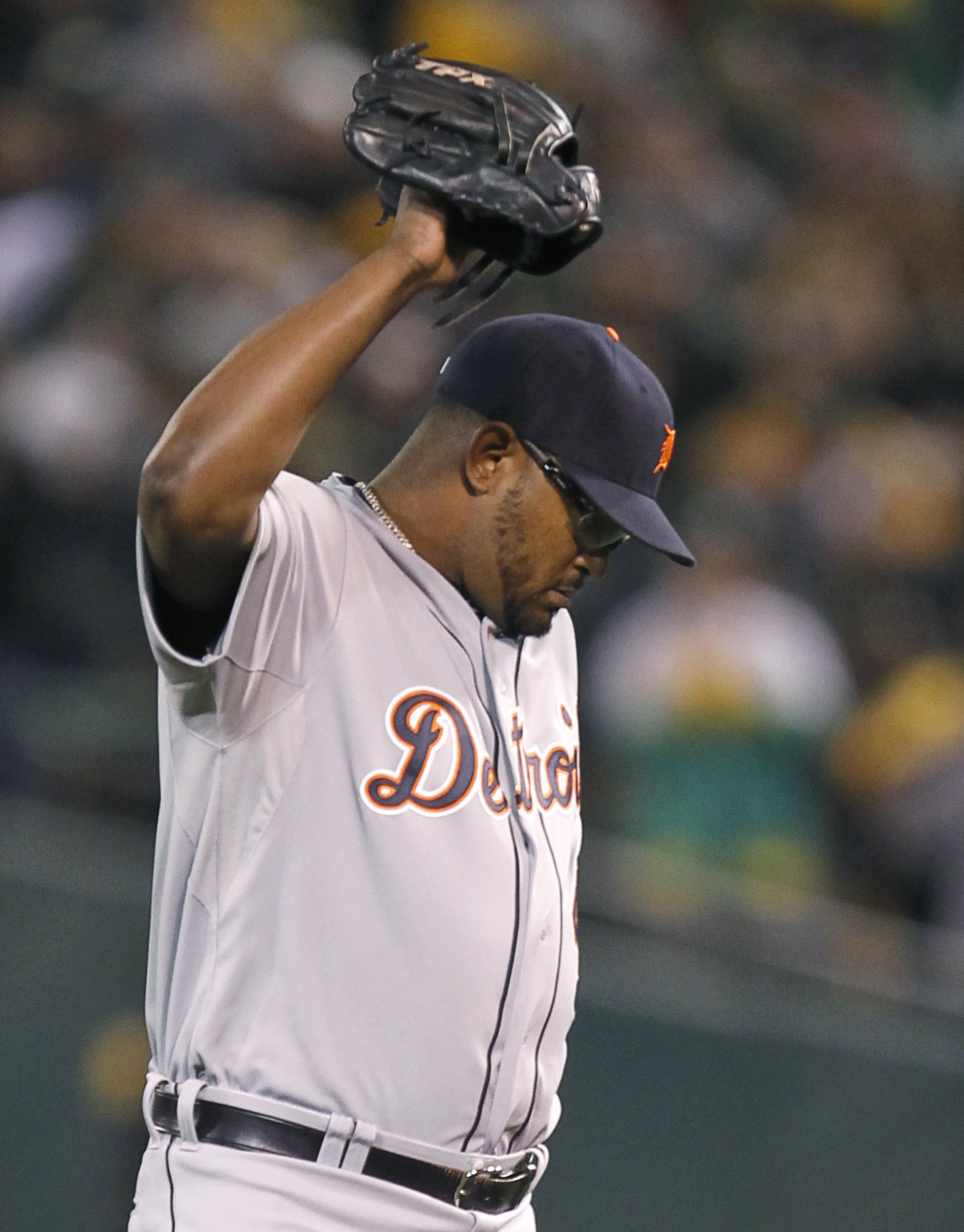 Jose Valverde got smacked around in the ninth inning as Detroit blew a chance to advance to the ALCS. (Reuters)