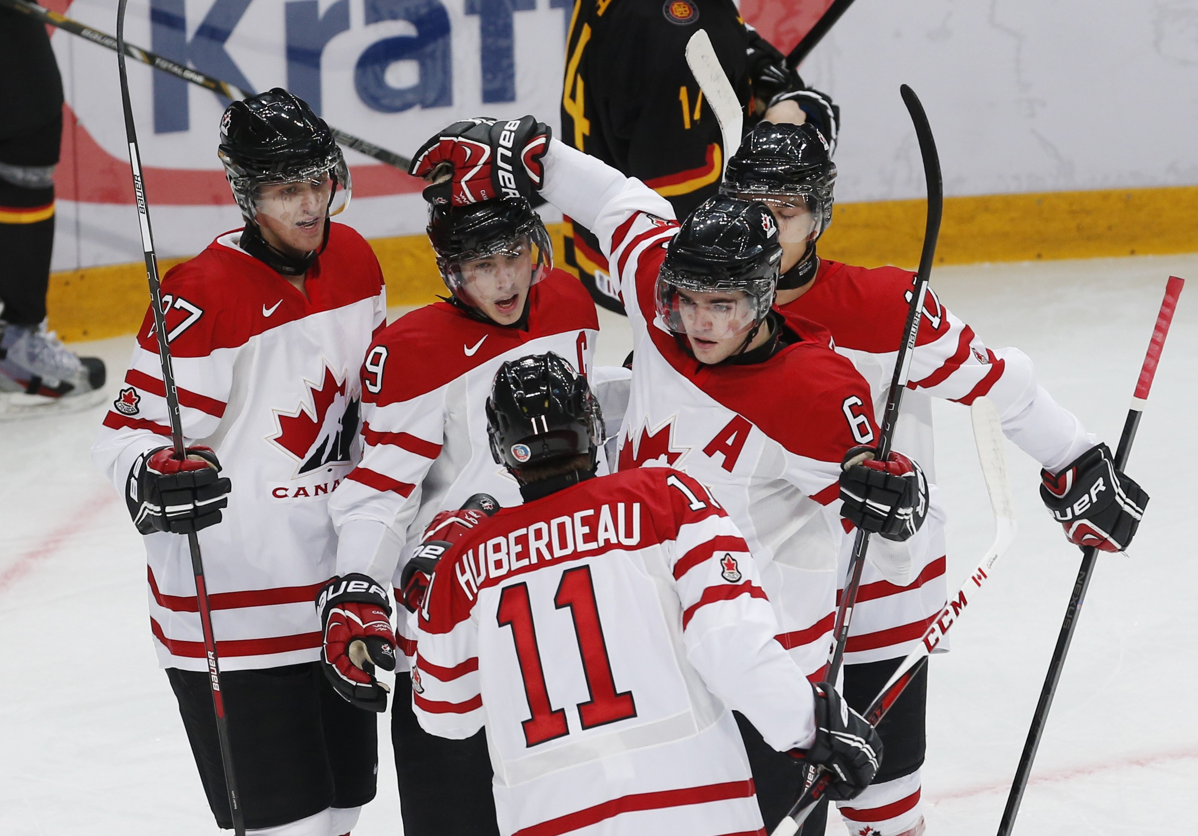 Canada's top line was too powerful for Germany. (Reuters)