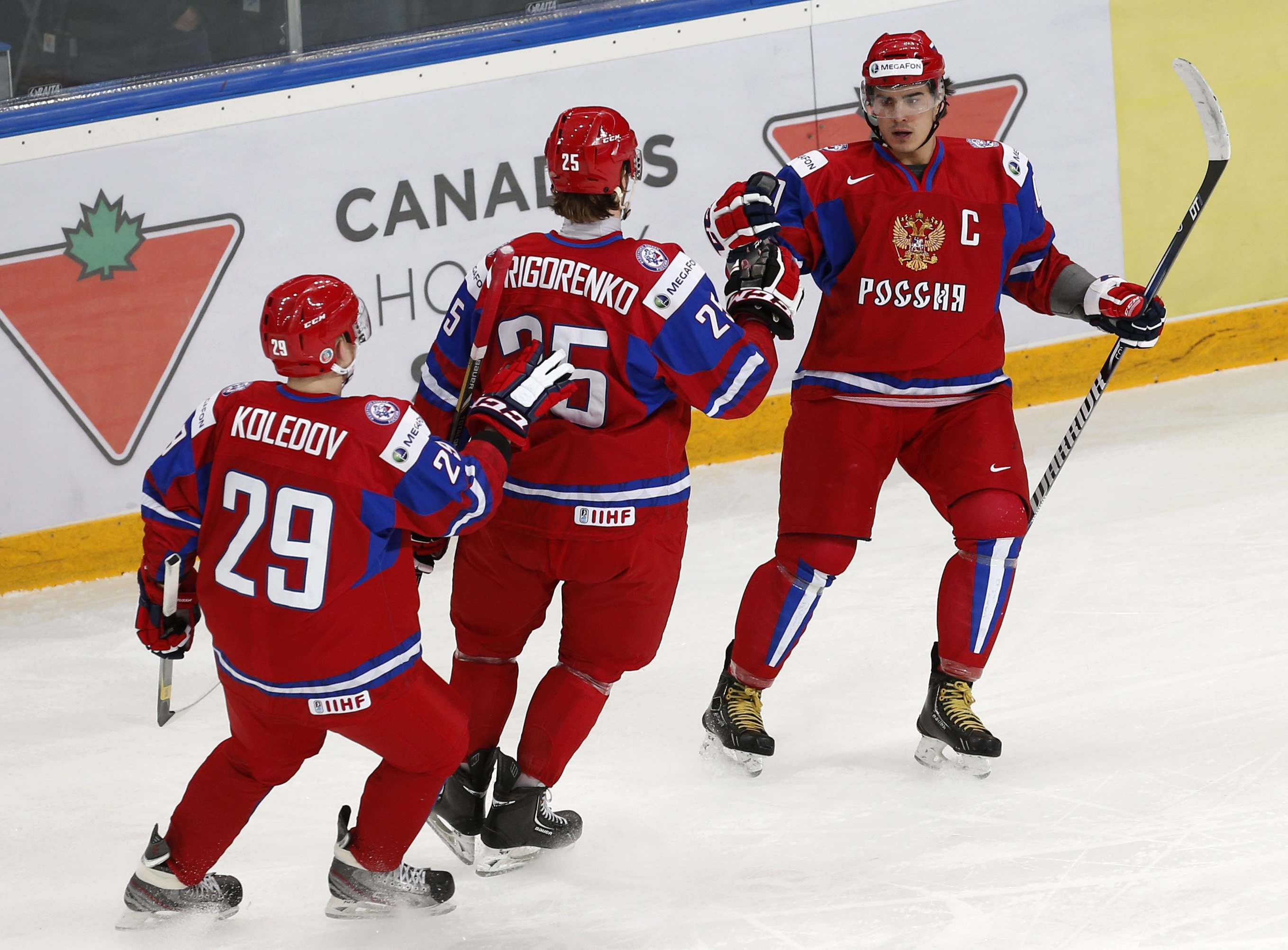 Nail Yakupov and Team Russia face off against Canada on New Year's Eve. (Reuters)