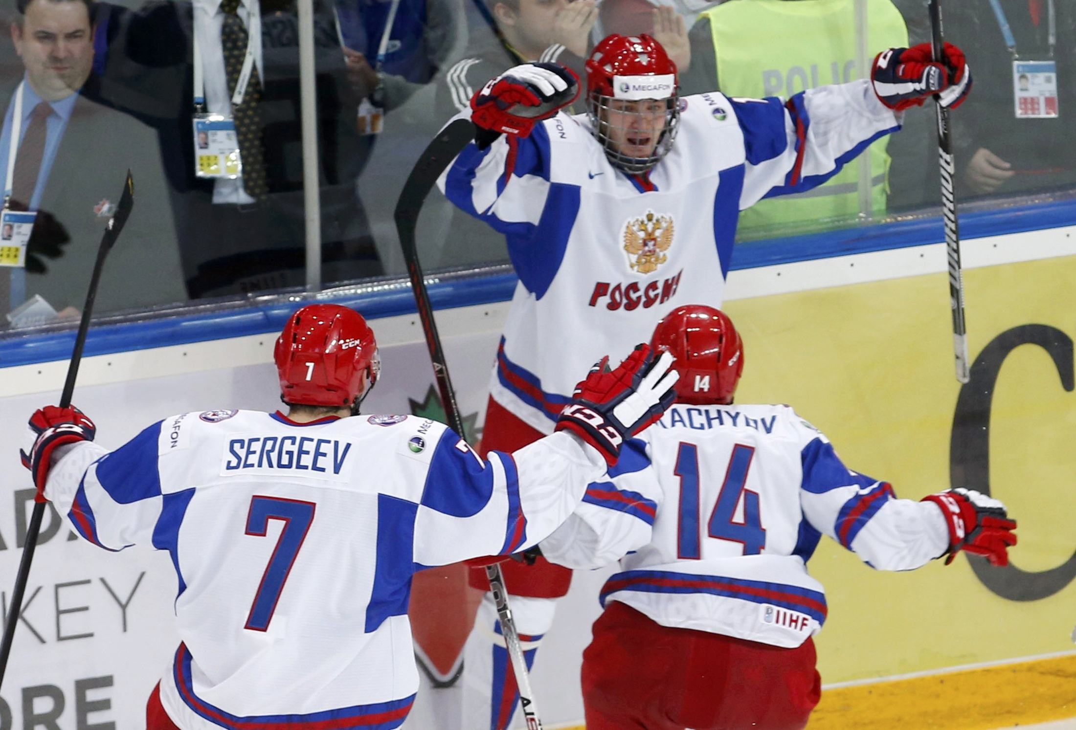 Valeri Nichushkin's overtime goal delivered the bronze medal to Russia. (Reuters)