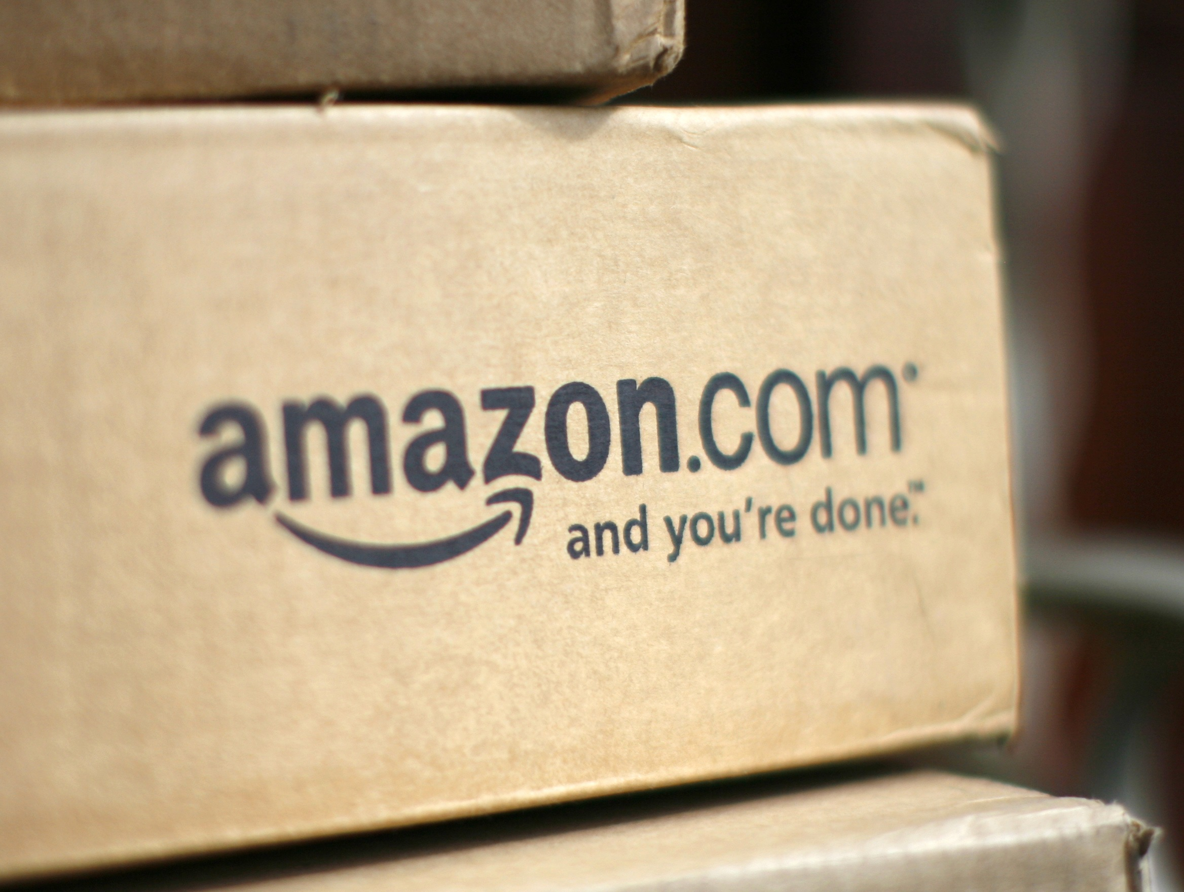 A box from Amazon.com. REUTERS/Rick Wilking/Files