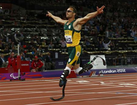 Oscar Pistorius competed in the London Olympics and Paralympics. (Reuters)