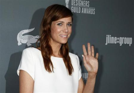 Actress Kristen Wiig arrives at the 15th Annual Costume Designers Guild Awards in Beverly Hills February 19, 2013. REUTERS/Fred Prouser