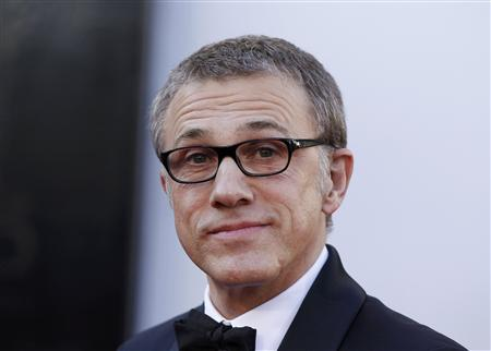 Christoph Waltz, best supporting actor nominee for his role in &quot;Django Unchained&quot;, arrives at the 85th Academy Awards in Hollywood, California February 24, 2013. REUTERS/Lucas Jackson
