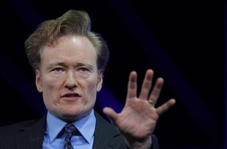 Comedian and talk show host Conan O'Brien is interviewed at The Cable Show in Boston, Massachusetts May 23, 2012. REUTERS/Brian Snyder
