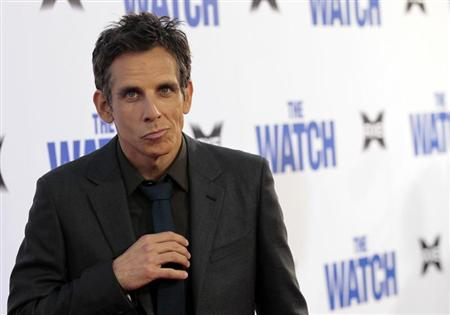 Cast member Ben Stiller poses at the premiere of &quot;The Watch&quot; at the Grauman&#39;s Chinese theatre in Hollywood, California July 23, 2012. The movie opens in the U.S. on July 27. REUTERS/Mario Anzuoni