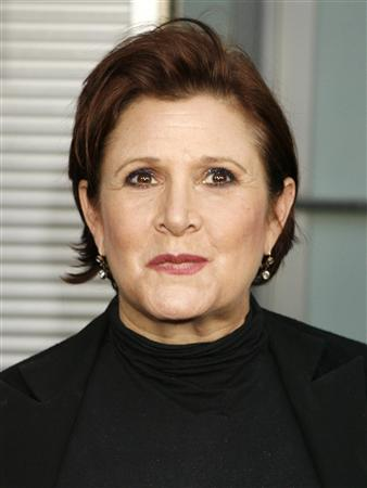 Actress Carrie Fisher arrives for the premiere of her new film &quot;Sorority Row&quot; in Hollywood, California in this September 3, 2009 file photograph. REUTERS/Fred Prouser/Files