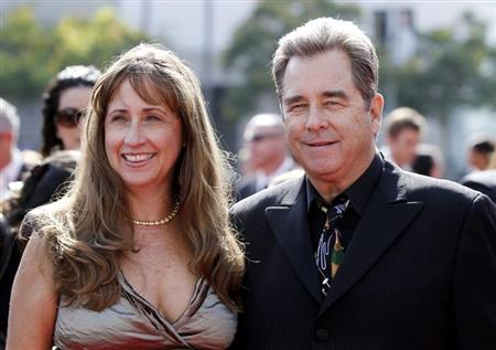Actor Beau Bridges (R), nominated for Outstanding Guest Actor In A Drama Series, and wife Wendy arrive at the 2011 Primetime Creative Arts Emmy Awards in Los Angeles September 10, 2011. REUTERS/Danny Moloshok