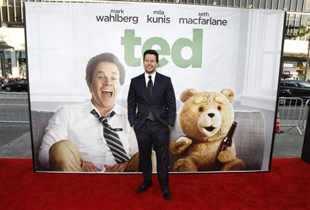 "Cast member Mark Wahlberg poses at the premiere of ""Ted"" at the Grauman's Chinese theatre in Hollywood, California June 21, 2012. REUTERS/Mario Anzuoni"