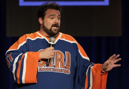 "Actor Kevin Smith leads a panel discussion for the new reality show ""Comic Book Men"" at AMC's TCA Winter Press Tour in Pasadena, California January 14, 2012. REUTERS/Jonathan Alcorn"