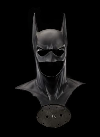 "The Batman mask and cowl from the 1995 film ""Batman Forever"" is pictured in this undated publicity photograph released to Reuters March 8, 2013. REUTERS/Courtesy Smithsonian Institution/Handout"