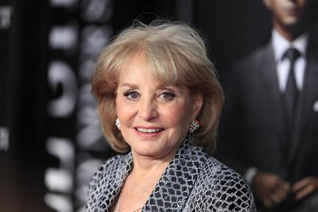 Television personality Barbara Walters arrives for the premiere of the film &quot;Wall Street: Money Never Sleeps&quot; in New York September 20, 2010. REUTERS/Lucas Jackson