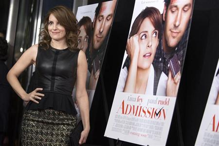 Cast member Tina Fey poses at the premiere of &quot;Admission&quot; in New York, March 5, 2013. REUTERS/Keith Bedford
