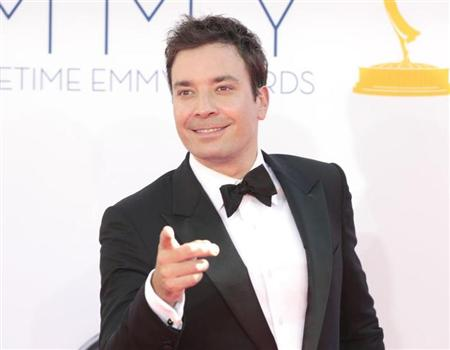 "Jimmy Fallon, host of ""Late Night with Jimmy Fallon"" arrives at the 64th Primetime Emmy Awards in Los Angeles September 23, 2012. REUTERS/Mario Anzuoni"