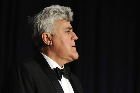 Comedian Jay Leno attends the White House Correspondents&#39; Association Dinner in Washington, May 1, 2010. REUTERS/Jonathan Ernst