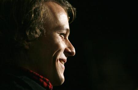 "File photo of late actor Heath Ledger arriving at the premiere of the film ""Candy"" in New York November 6, 2006. REUTERS/Eric Thayer"