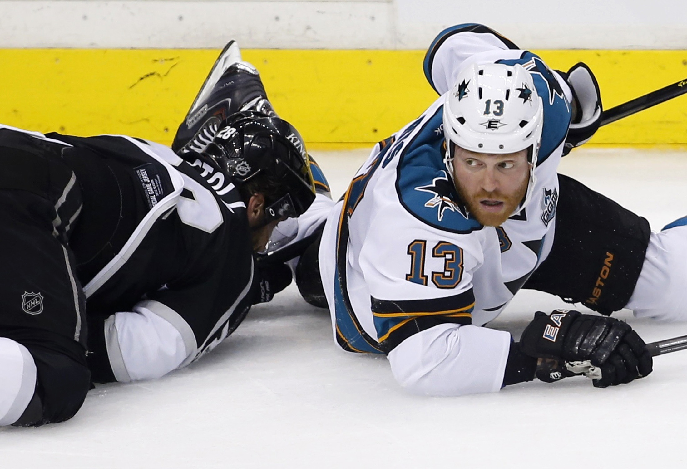 San Jose's Raffi Torres is out for rest of the series against Los Angeles for his hit on Jarret Stoll. (Reuters)
