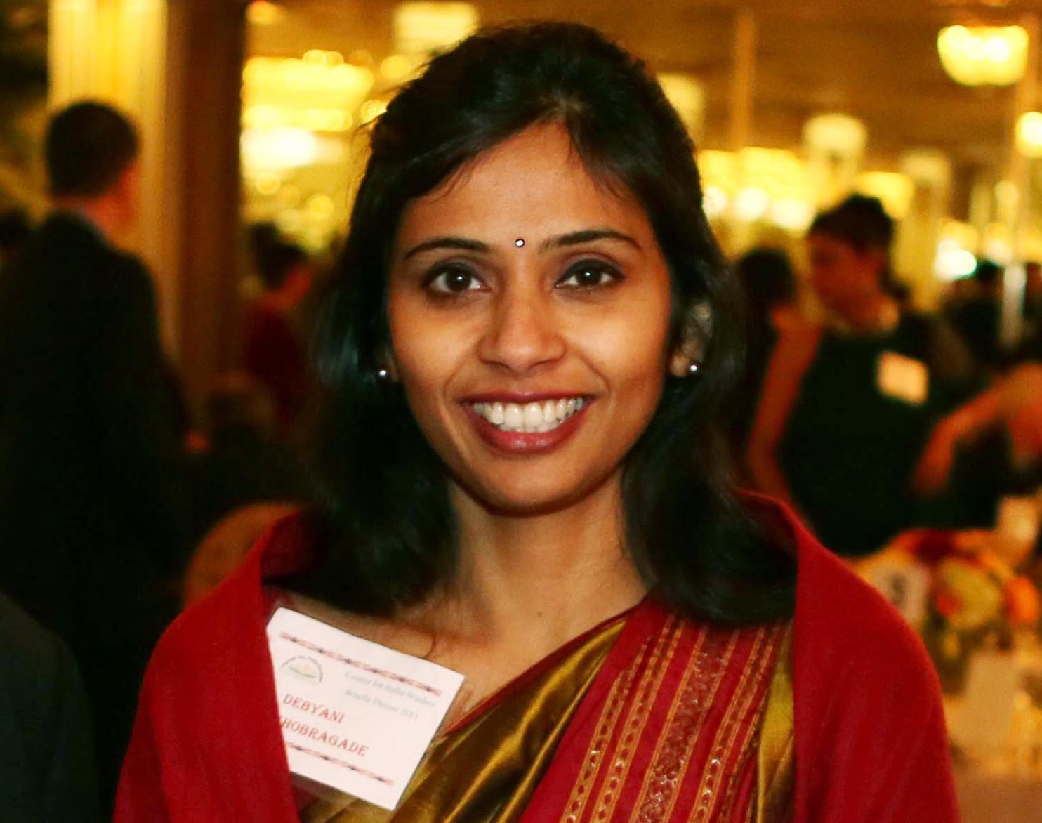 Devyani Khobragade, India's deputy consul general, attends the India Studies Stony Brook University fundraiser event in Long Island, New York