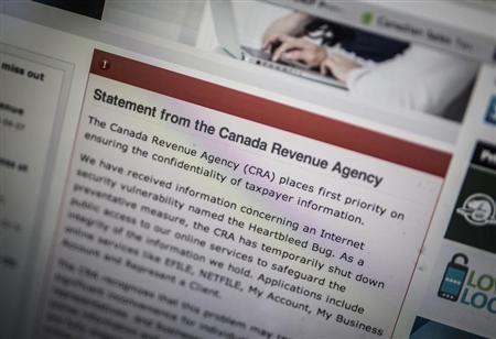 'Heartbleed' blamed in attack on Canada tax agency, more expected