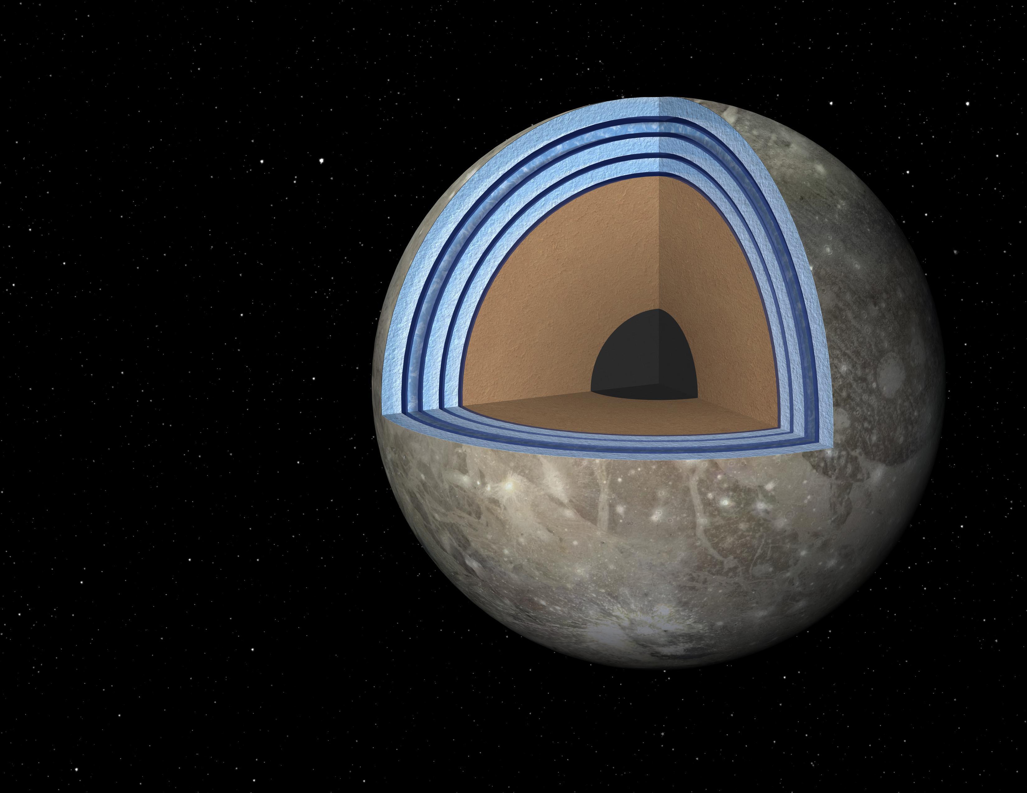 Ganymede Moon Surface Jupiter 39 s Moon Ganymede May