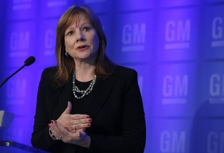 General Motors CEO Barra holds a media briefing in …