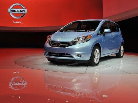 The 2014 Nissan Versa Note is displayed at the North American International Auto Show in Detroit