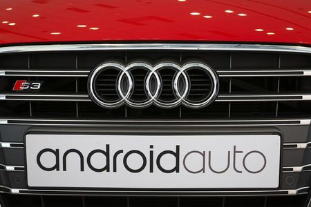 """A German-imported Audi S3 with a custom """"Android…"""