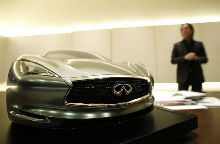 File photo of Infiniti chief designer Albaisa standing …