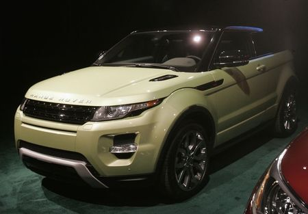 File photo of Range Rover Evoque vehicle displayed …