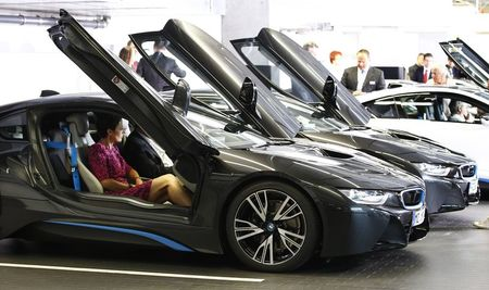 File photo of world's first customers of new BMW …