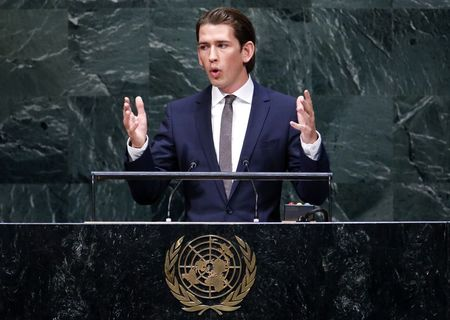 Austria's foreign minister brings Facebook age to U.N. stage