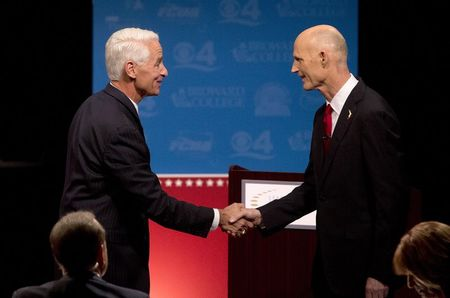In bitter Florida governor's race, debate hits the fan