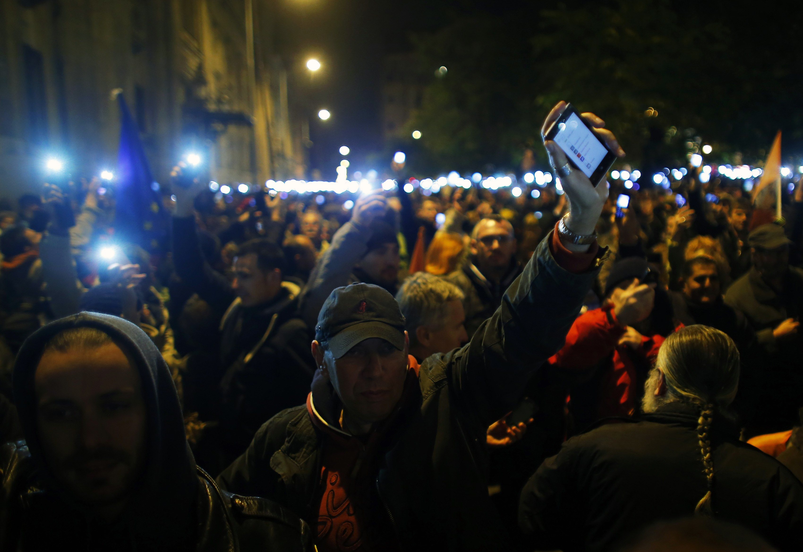 Around 100,000 Hungarians rally for democracy as internet tax hits nerve