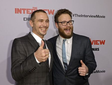 All calm amid political storm at 'Interview' premiere
